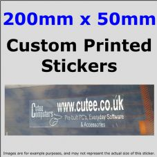 50mm x 200mm Custom Printed Advertising,Fun Stickers-Windows,Bumper-Car,Taxi,Van,Business,Website